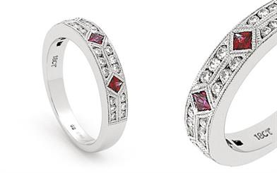 Mark Milton's ruby and diamond ring