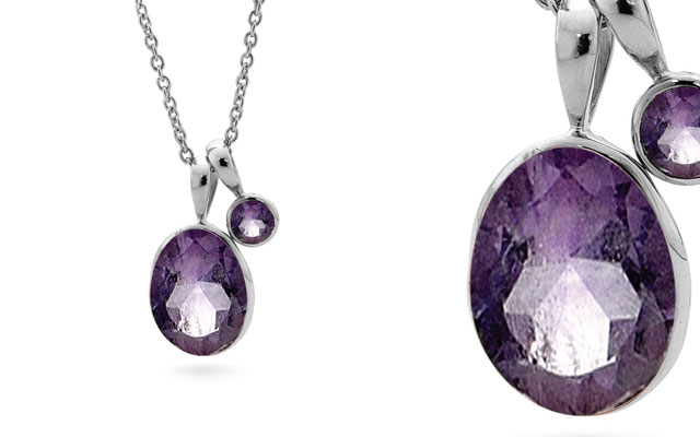 Stones & Silver's amethyst necklace