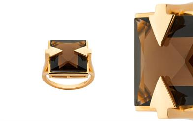 Karen Walker's smoky quartz ring