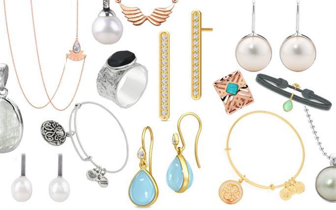 A selection from Alex and Ani, Julie Sandlau, Miglio, Najo, Pastiche and Stones and Silver