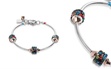 Coeur de Lion's Swarovski and multi-coloured rhinestone bracelet