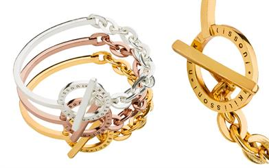 Nikki Lissoni's combined bangle and chain range