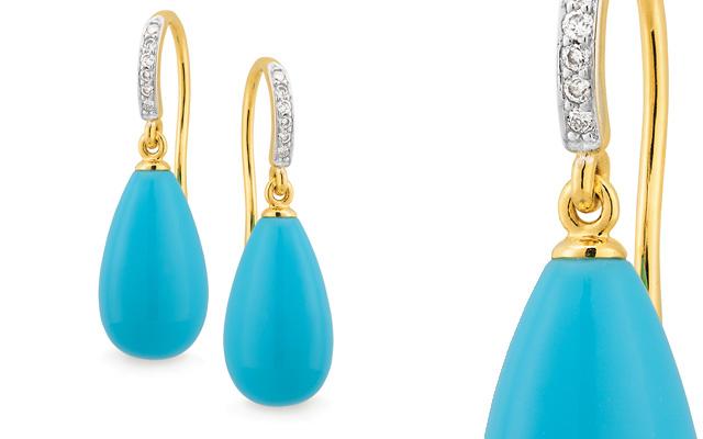 Mark McAskill Jewellery's diamond shepherd hook earrings