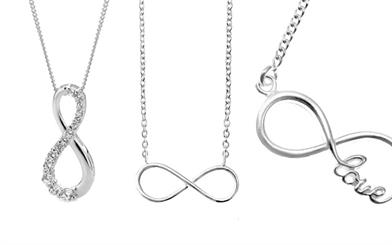 Stones & Silver's Infinity collection pendants