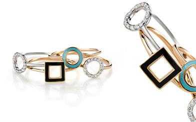 Rings from Karen Walker's Superfine collection