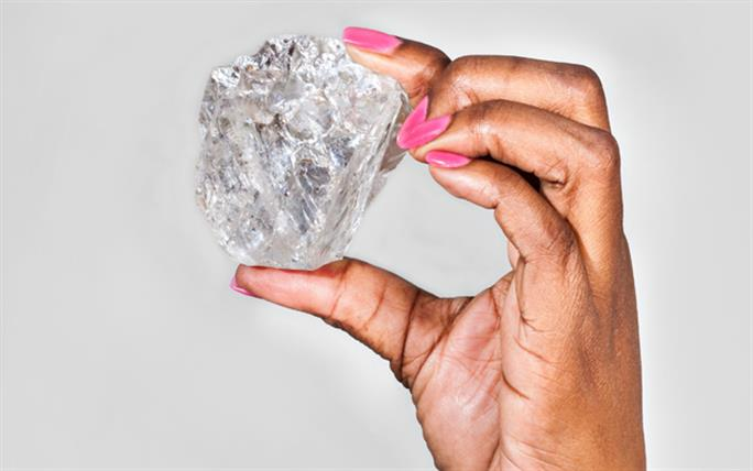 The Lesedi La Rona rough diamond is 1,109 carats, roughly the size of a tennis ball