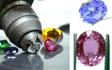 A sample of gemstones cut by New Century Brilliant Enterprises