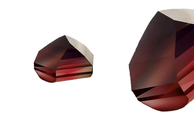 Bespoke Gems' red freeform rubelite tourmaline