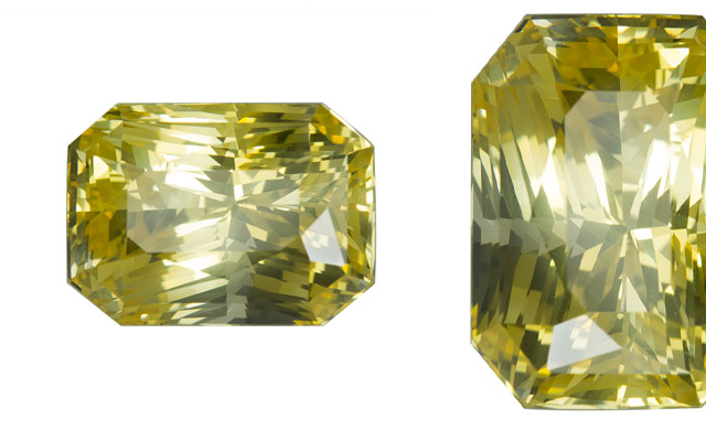 The Gemstone Trading Company's yellow radiant-cut sapphire