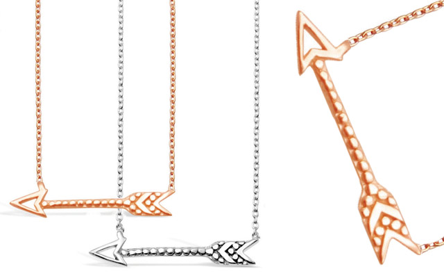 Stones & Silver's arrow necklets