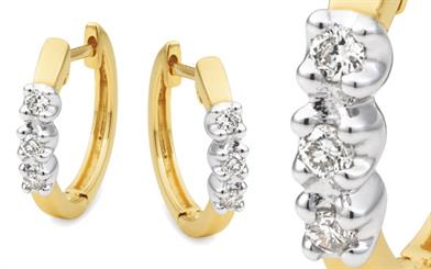 Mark McAskill Jewellery's diamond-set huggie earrings