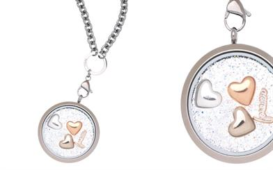 A Love Lockets necklace customised with charms