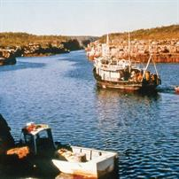 Berkeley River in the Kimberley region of Western Australia, 1974