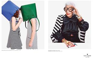 A Kate Spade campaign featuring Iris Apfel