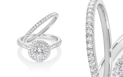 Pieces from La Couronne Jewellery's 18-carat bridal range