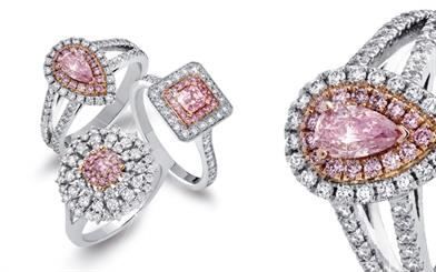 A selection of Pink Kimberley Australia's jewellery range