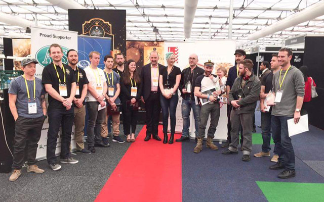 Winners, organisers and judges at the 2016 Jewellery Design and Manufacturing Championships