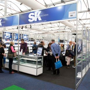 First-time exhibitor SK Diamonds received significant attention