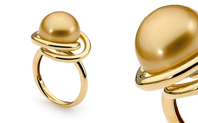 Allure South Sea Pearls' 18-carat yellow gold pearl ring