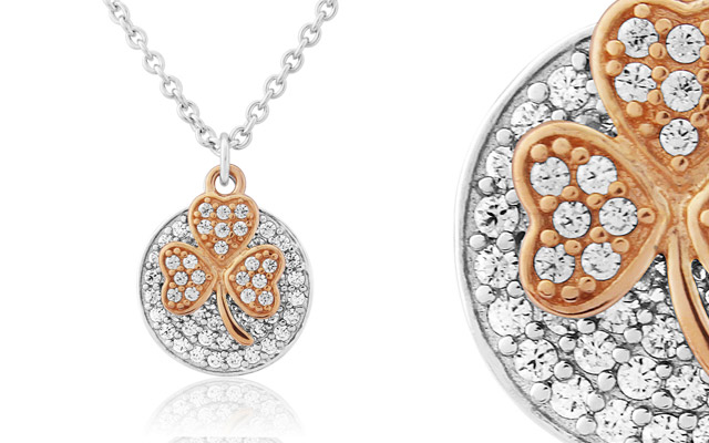 Waterford Crystal's shamrock necklace