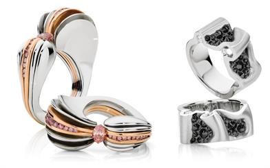 Winning designs from last year's Diamond Guild Australia Jewellery Awards