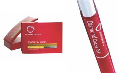 Connoissuers' Jewellery Wipes and Diamond Dazzle Stik