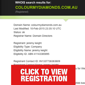 Keight registrant for ColourMyDiamonds.com.au