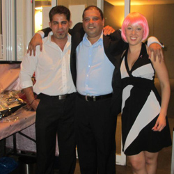 Navin Pillay, Michael Sobbi and Melissa Goh