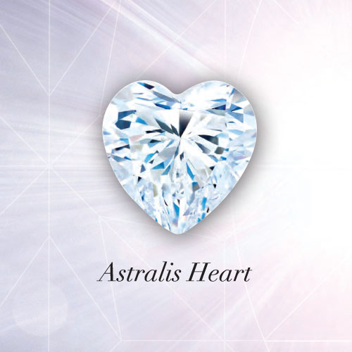 Astralis Heart Diamond - The very finest craftsmanship meets the ultimate symbol of love. Every one of the 65 facets is meticulously polished to reveal the ultimate brilliance in a heart-shaped diamond.