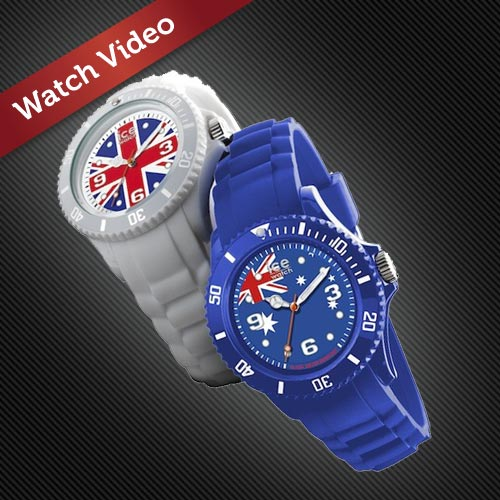 The new UK and Australian Ice-World watches.