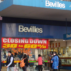Bevilles is closing its Queensland stores