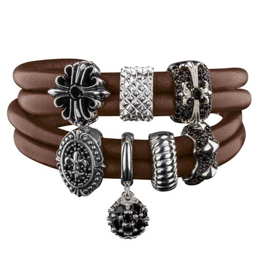 Rebeligion True Silver leather bracelet