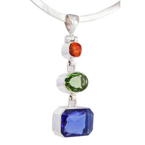 Renee Blackwell Design's three-drop pendant