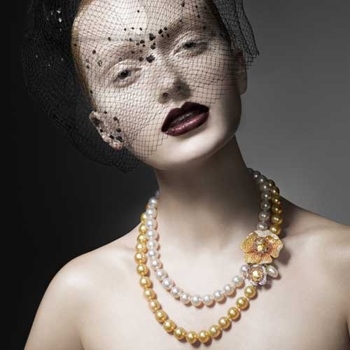 Pearls lend themselves to exquisite imagery. Image courtesy: Autore