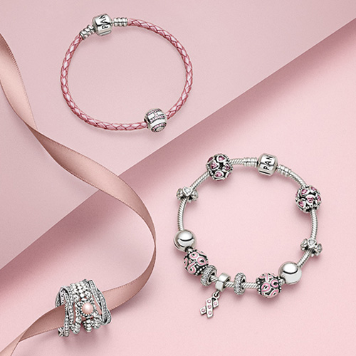 Pandora has again expanded its Pink Ribbon collection in support of breast cancer research