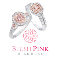 Blush Pink Diamond jewellery is crafted from 18ct gold with a exquisite blend of fine white diamonds and Australian natural pink diamonds from the Argyle Diamond Mine.