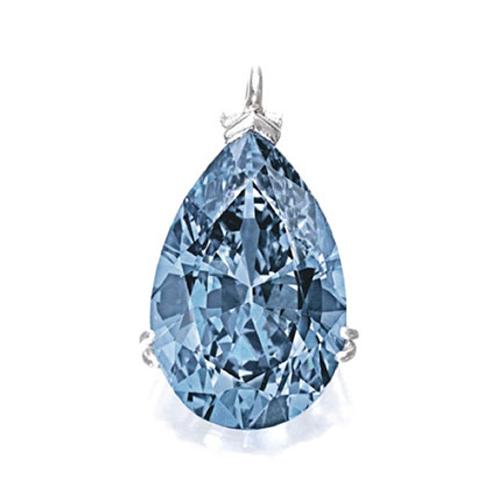 A 9.75-carat fancy vivid blue diamond set two new world auction records