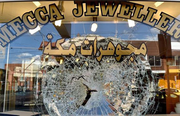 Up to $50,000 in gold jewellery is believed to have been stolen from Mecca Jewellery in Melbourne