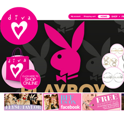 Diva's new range of Playboy jewellery has caused havoc across its social networking mediums