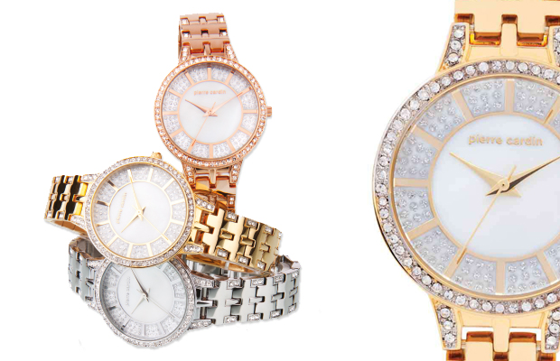 Pierre Cardin's crystal embellished watches