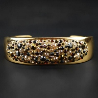 Crystal Encrusted Golden Cuff