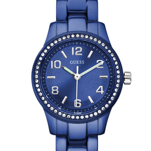 The sharp blue coloured Micro Mini from GUESS Watches