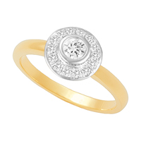 18ct Yellow Gold with 0.50ct total diamond weight. (Also available in 18ct White Gold)