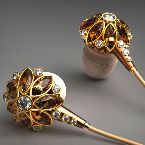 'Beauty Flower Earphones' by designer Csaba Hegedus